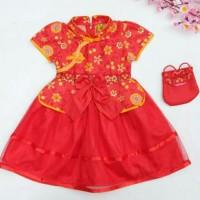 Dress Imlek Baby Dan Anak Perempuan Tutu Bunga Matahari Murah