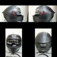 PROMOO HELM FULL FACE! HELM AGV K3 SV SOLID BLACK DOFT