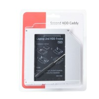 2nd 2.5 HDD SSD Caddy 9.5mm SATA to SATA Hard Drive Adapter For Laptop