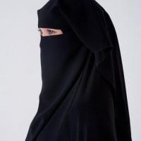 Niqab Saudi 3 Lapis   Cadar mesir