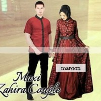 COUPLE ZAHIRA BRUCADE/couple batik/couple muslim/couple kebaya murah