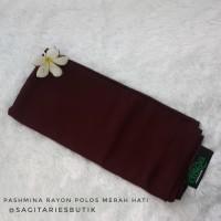Pashmina Rayon Polos Plum Murah