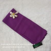 Pashmina Rayon Polos Purple Murah