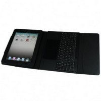 2 in 1 Bluetooth Keyboard + Folding Leather Protective Case for iPad 2