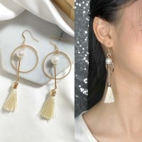 Anting Korea Multi Coloured Feather Earrings