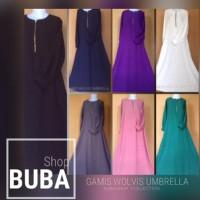 New Gamis Syar'i Woolpeach / Wolfis / Wolvis/Umbrella Style/Busui