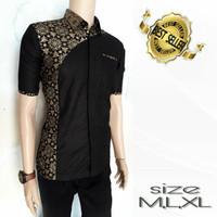 Harga kemeja batik pria lengan pendek kombinasi model | antitipu.com