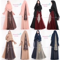 GAMIS SYARI BROKAT TULE LATIFA BY HAWWAAIWA. MAXI DRESS PESTA. KEBAYA