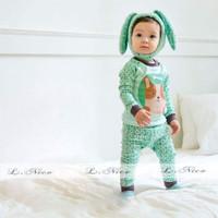 BC233 Baju Tidur Anak/Piyama Anak Cowok Doggy Green LNice 101 (ready)
