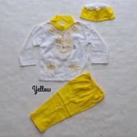koko baju muslim anak bayi laki 0 1 2 3 4 5 6 7 8 9 10 11 bulan kuning