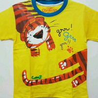 Termurah Baju kaos anak laki oshkosh karakter TIGER kuning size 1-6