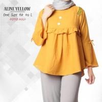 Jual Aline Yellow / Baju Tunik / Grosir Tunik / Hijab Tunik / Hijab