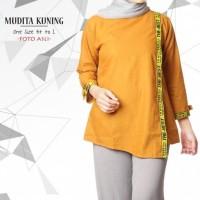 Jual Mudita Kuning / Hijab Tunik / Fashion Hijab / Grosir Baju Muslim