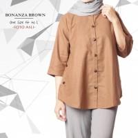 Promo Bonanza Brown / Baju Tunik / Grosir Baju Tunik / Hijab Tunik