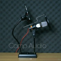 SF666 + stand meja + pop filter + holder hp + Splitter audio