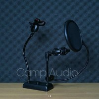 stand mic + pop filter