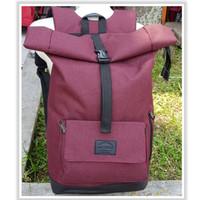 Jual Backpack Rolltop Kekinian | Rolltop air bone | Tas Ransel - Maroon Murah
