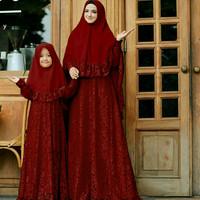 Harga baju couple busana muslim keluarga ibu anak cpmk naura   antitipu.com