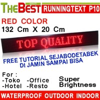 LED RunningText 132X20 / Running Text / MovingSign Red Color TERBARU