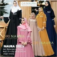 baju muslim wanita gamis maxi maxy lengan panjang - NAURA long dress