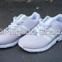 531fe8c00340b Adidas ZX Flux Reflective White Pink Blue ORIGINAL