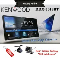 Kenwood DDX-7018BT Head Unit Double Din DDX 7018 BT Tap Asli
