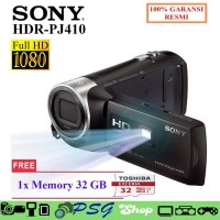 TOP Ready HandyCam Sony HDR PJ410 Garansi Resmi Free Memory 32 GB Cam
