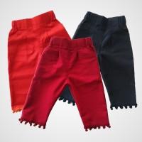 KicauKecil - Naya Midi Celana Motif Pompom 1-8T Merah,Orange,Navy