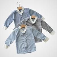 KicauKecil - Omar Koko Anak Lengan Panjang 1-8T Biru, Abu, Biru Muda