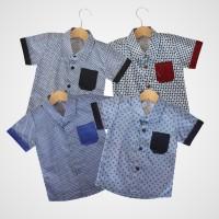 KicauKecil - Kala Kemeja Anak Motif Abstrak 1-8T Biru,Merah,Navy,Hitam
