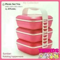 Tupperware Picnic Set Trio Tempat Makan Piknik Murah