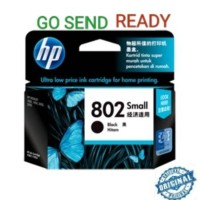 HP 802 SMALL ORIGINAL Black Ink Catridge Hitam kecil printer 1000 1010