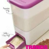Tupperware Rice Smart Dispenser Tempat Beras Ukuran 10Kg 10 Kg Murah