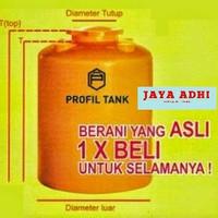 Tangki / Tandon Air Plastik Profil Tank 1300