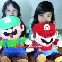 Harga sale boneka super mario bros luigi big size 40cm high | Hargalu.com