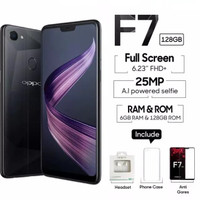 HP OPPO F7 DIAMOND BLACK 6/128 GB SECOND GARANSI RESMI