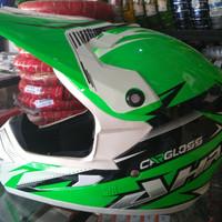 Helm cross Cargloss AHRS Warna Green