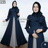 Jual Baju Premium Gaun Pesta Muslimah Zaskia Banyak Warna Se Murah Murah