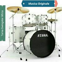Drum Tama Swingstar S52KH6 SGW Sugar White Complete Set Siap Pakai