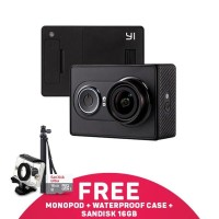 EXCLUSIVE Xiaomi Yi Action Cam 16mp Hitam Sandisk 16gb Waterproof Cas