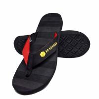 Harga sandal jepit karet rubber flip flops pria wanita hitam merah | Hargalu.com
