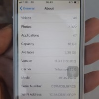 iPhone 5s 16GB Silver ex erafone