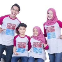 Kaos Muslim Couple Family  PAKET B 4 Pcs / Baju Seragam Best Seller