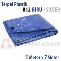 Terpal Plastik Jadi 5 x 7 Mtr Biru TEBAL A12 Tutup Truk, Warung Tenda