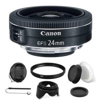 Canon EF-S 24mm f/2.8 STM Lens with Kit For Canon Rebel T3i, T5 and T5