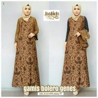 Gamis batik bolero genes