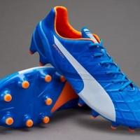 Sepatu Bola PUMA original evoSPEED 1.4 FG Blue Lemonade 10326403 1fda3c6877