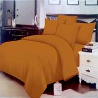 Bedcover polos coklat 90x200