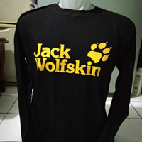 Kaos distro tshirt lengan panjang JACK WOLFSKIN t shirt pria trendy