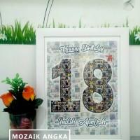 Foto Mozaik Unik Untuk hadiah & Pajangan FREE BINGKAI!!